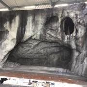 Grotte de lourdes pour anniversaire Bernadette de Soubirou, atelier F.Devineau
