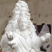 Louis XIV et son dauphin, taille réelle,Polystyrène taille directe,ciném, 2020.