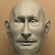 Caricature Poutine (sans pilosité) pour Guignols Egypte