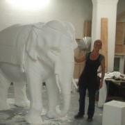 Eléphant d'Asie, cité du Cinéma