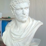 modelage buste romain