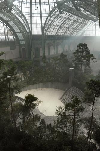Une forêt dans le Grand Palais, atelier François Devineau, défilé Chanel