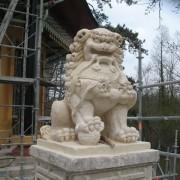 Lion, pavillon chinois de l'isle Adam, Monuments historiques,2008.
