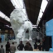 Lion 20 M,atelier  François Devineau travail collectif, défilé Chanel au grand Palais