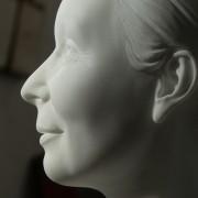 Détail portrait marbre de Carrare